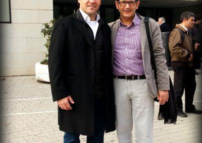 Con el trompetista Raúl Junquera (2015)