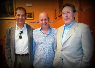 Con Bart Piqueur y Bernardo Adam Ferrero (2014)