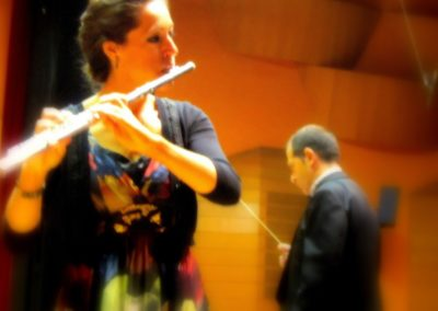 Marta Navarro actuando con la Banda Municipal de la Coruña